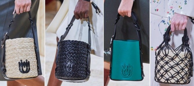 главные тренды в моде на сумки сезона весна-лето 2020 - летняя сумка-ведро 2020 года