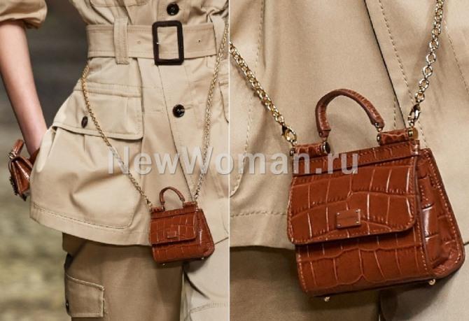 сумки-малютки на цепочке от бренда Dolce {amp}amp; Gabbana - показ весна-лето 2020