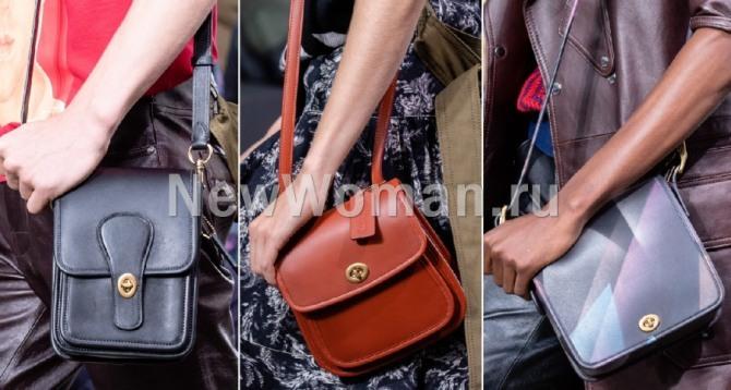 какие сумки самые модные в сезоне весна-лето 2020 - сумка-планшет, фото от бренда Coach