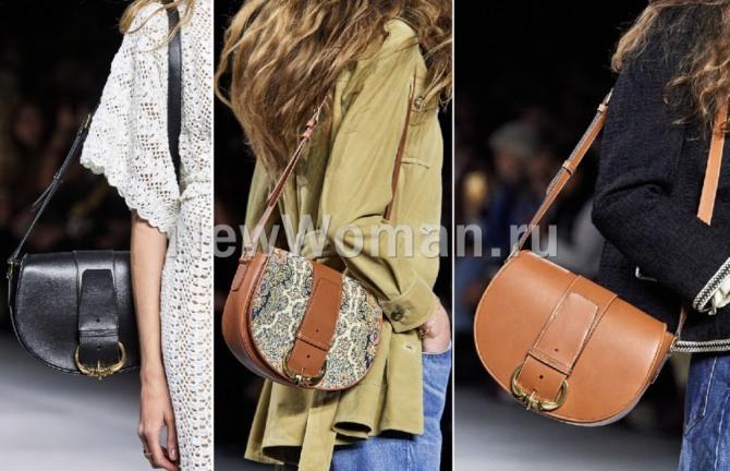 фото модных сумок весна-лето 2020 - сумка седло (3 фото)