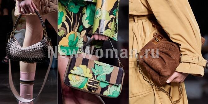 тренды сумочной моды весна-лето 2020 - сумка багет