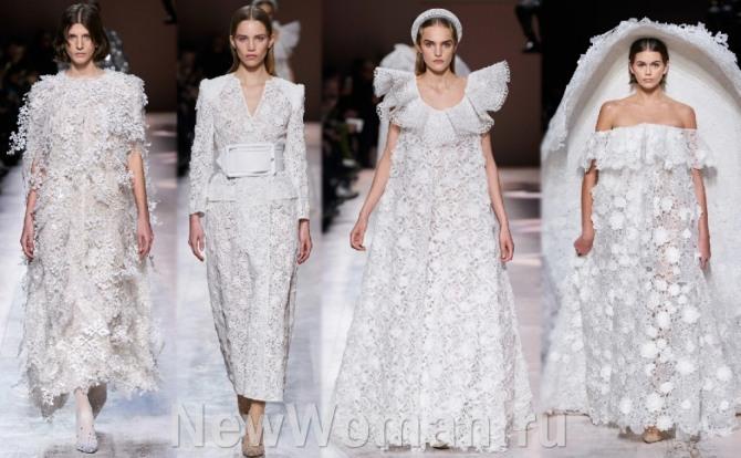 белые свадебные платья 2021 года с подиума от бренда Живанши