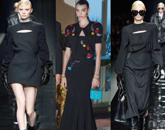 вечерние платья осень, зима 2021 года с болеро от модного дома Versace