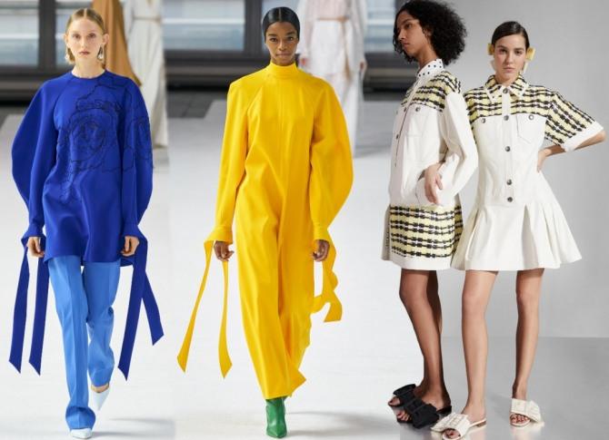 какие платья самые модные зимой 2021 года - стильные модели с длинным рукавом представляет бренд Каролина Эррера из США