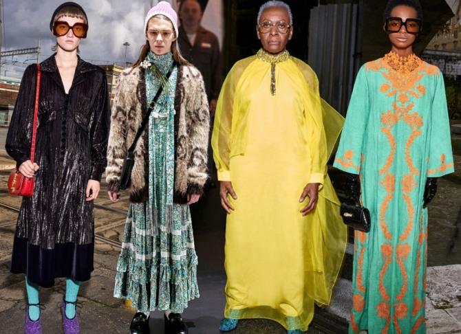платья для дам элегантного возраста на 2021 год от Гуччи