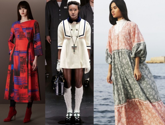 модные женские платья с модных показов на 2021 год с рукавами три четверти - фото