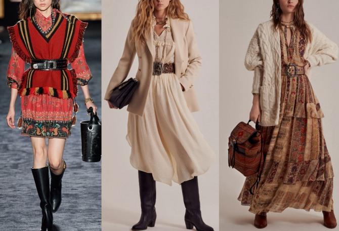 Осенние платья с жилетом, пиджаком, кардиганом - фото с модных показов на 2021 год