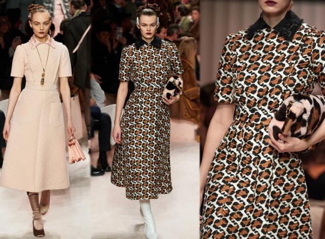 коллекция Fendi Осень-Зима 2020-2021 - платья на каждый день, фото