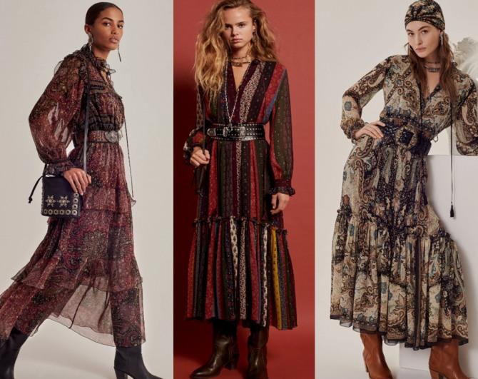 Женственные платья 2021 в осенней цветовой гамме из коллекции Etro