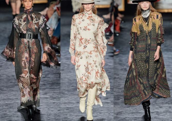 длинные дизайнерские платья 2021 для пожилых женщин - модели с подиума с длинным рукавом