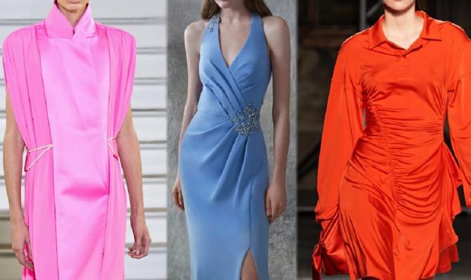 платья 2021 года с драпировкой