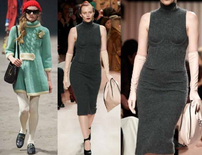 в 2021 году в тренде трикотажные платья