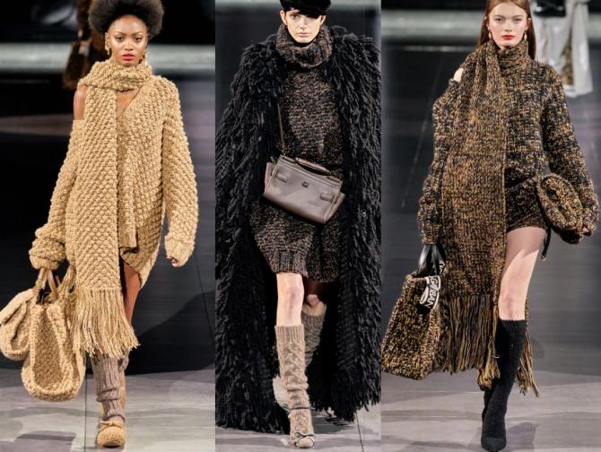 Зимняя мода: платье-свитер крупной вязки от Dolce & Gabbana - коллекция на 2021 год