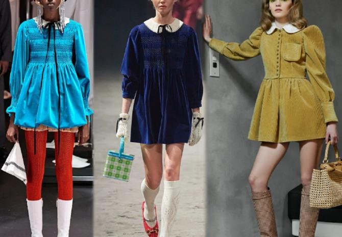платья 2021 года с модных показов из велюра и вельвета