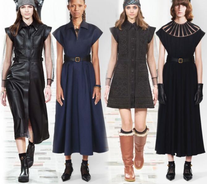 модные рукава черных платьев 2021 года - рукава-крылышки