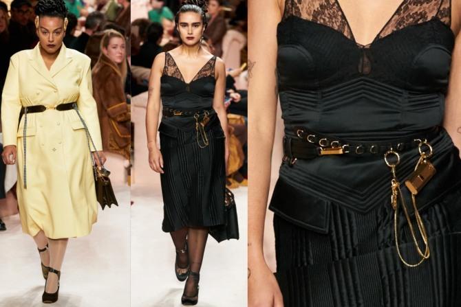 фото повседневных дизайнерских платьев для полных девушек и женщин 2021 года от модного дома Фэнди