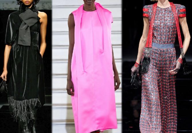 платья с палантинами - модный тренд 2021 года