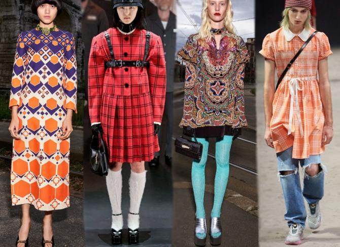 платья 2021 года с принтами из коллекций модного дома Гуччи