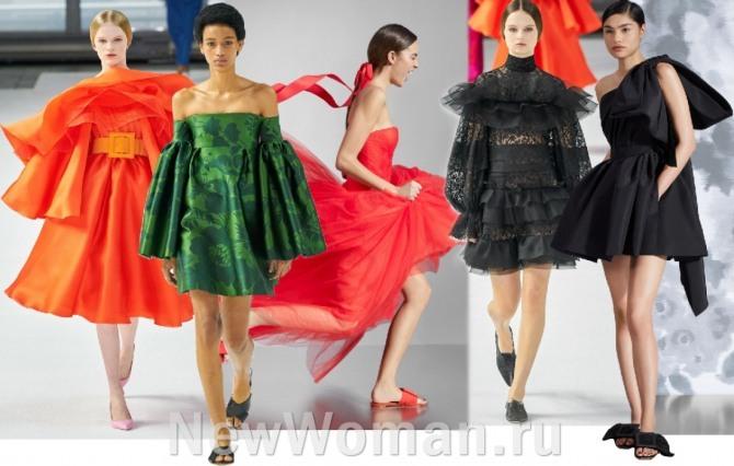 красивые и стильные платья для девушек на выпускной вечер 2021, для торжества, для ресторана - летний сезон, фото с подиумов мировых столиц