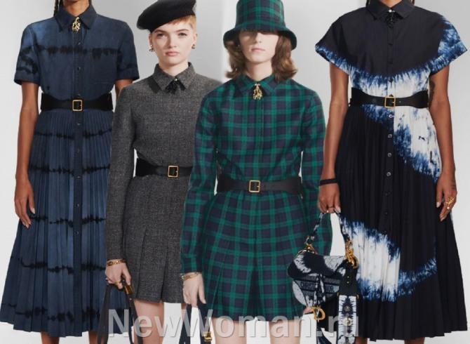 Повседневные и деловые платья в складку - женская одежда 2021 года от мировых дизайнеров
