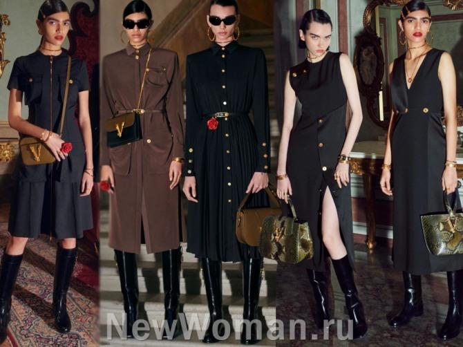 деловые платья от Versace - тренды осень, зима 2021 года