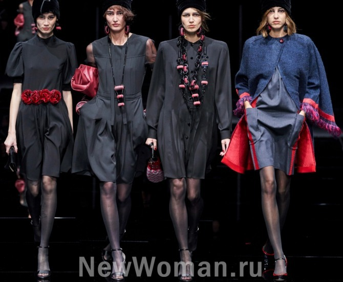 примеры преображения повседневного маленького черного платья в наряд для вечернего выхода при помощи аксессуаров - модные показы на 2021 год