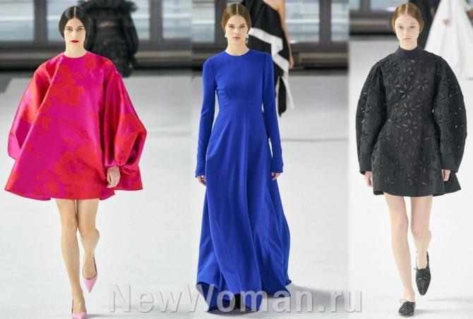 платья с подиумов на 2021 год в стиле минимализм