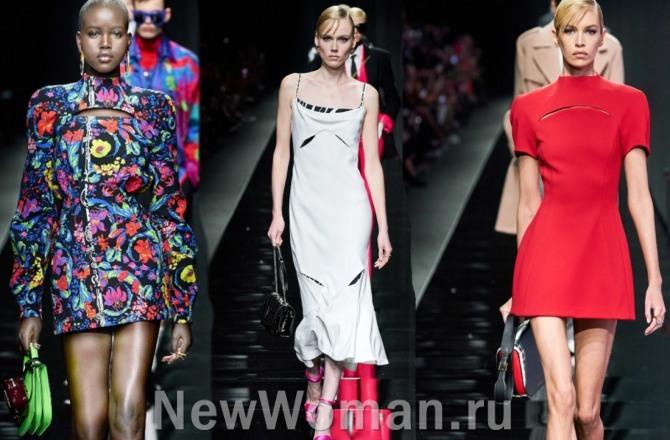 тенденции на весну 2021 года - платья с вырезами-щелями