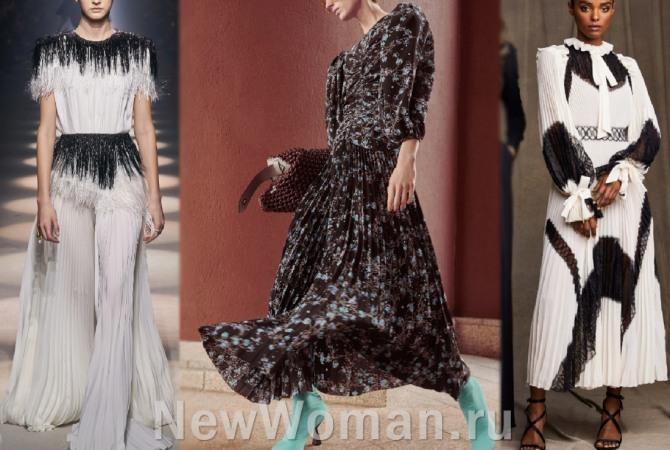 платья 2021 года с плиссировкой