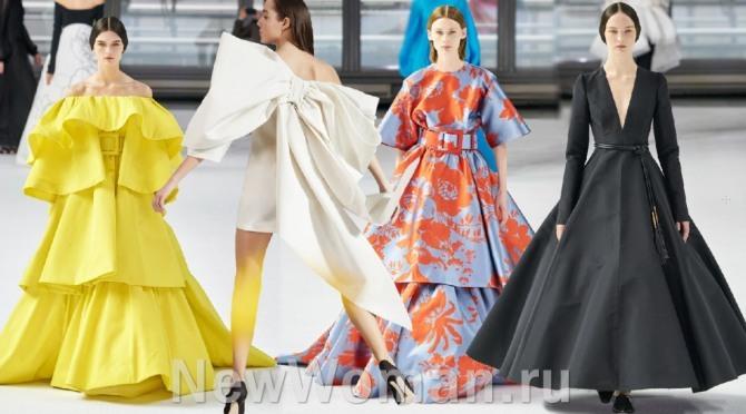 фото бальных дизайнерских платьев 2021 года от бренда Carolina Herrera