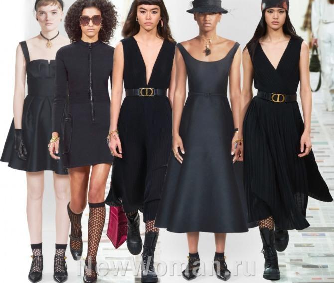 Маленькое черное платье 2021 года от Диор