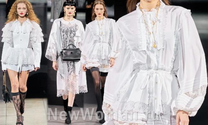 Платья белого цвета Весна-Лето 2021 года