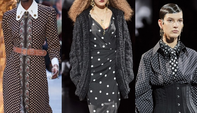 стильные образы с дизайнерскими платьями 2021 года с гороховым принтом от Chloé и Dolce & Gabbana