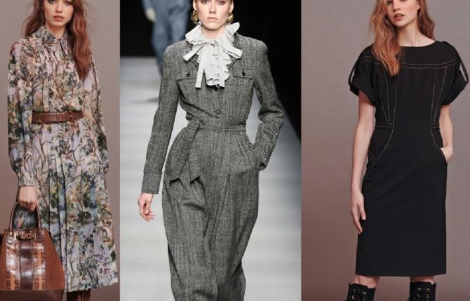стильные образы с деловыми и повседневными платьями на сезон осень-зима 2020-2021 от бренда Alberta Ferretti