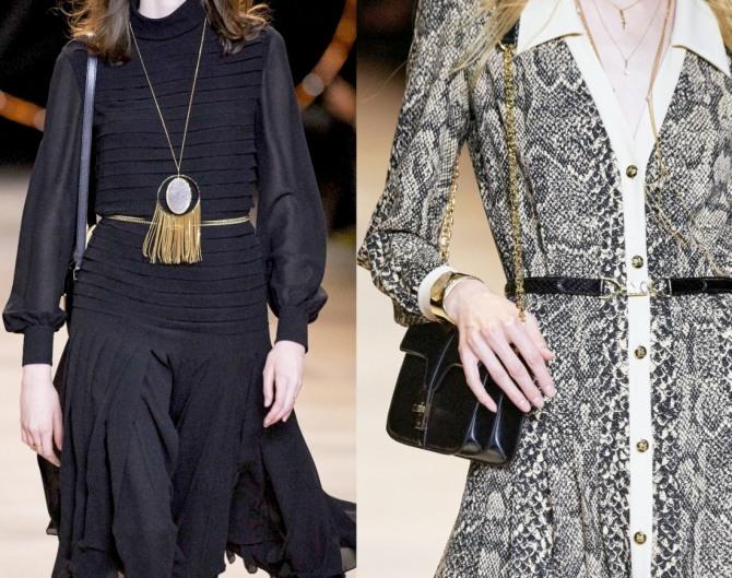 какие офисные платья модные в 2021 году - фото из коллекции Celine (Франция)