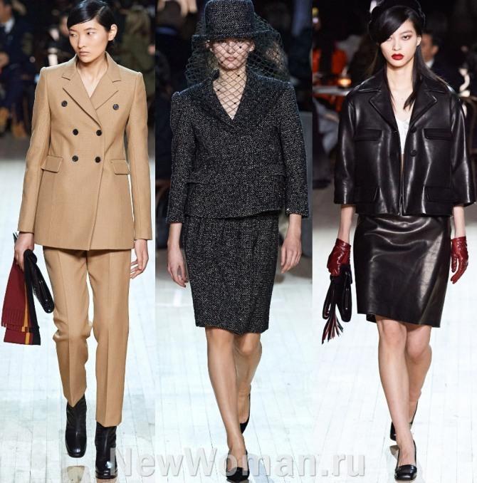 повседневные деловые женские костюмы в стиле 60-х годов с недели моды в Нью-Йорке - мода 2021 года