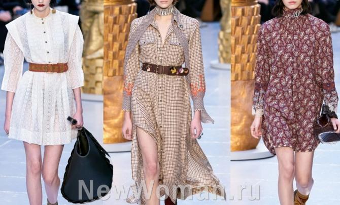 стильные варианты повседневных платьев из легких тканей для теплой погоды - новинки с модных показов 2021 года