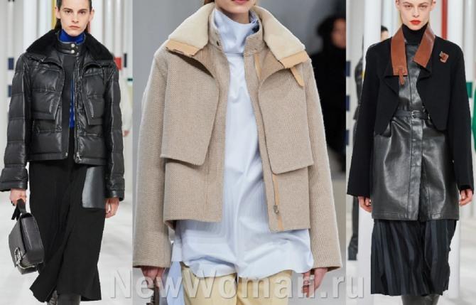 главные модные тренды осень-зима 2020-2021 - женские двухслойные куртки от модельеров модных домов, фото
