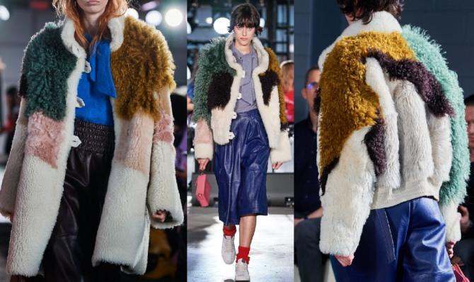 колор-блокинг в моде на меховые куртки 2021 года