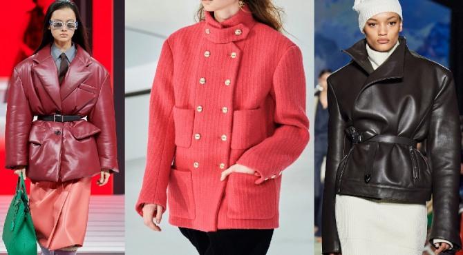 Какие дизайнерские куртки и парки для девушек и женщин самые модные в 2021 году - с мужскими широкими плечами