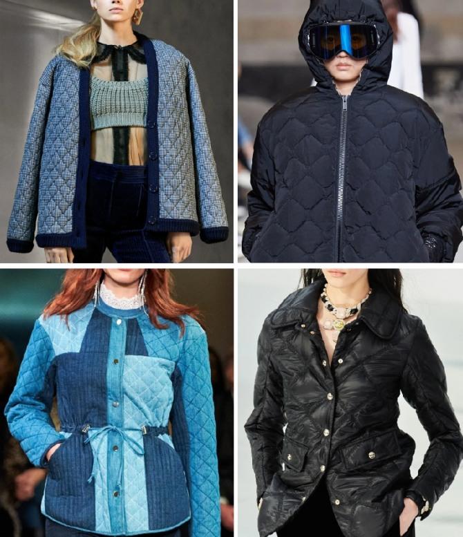 брендовые стеганые женские куртки 2021 года - фото из дизайнерских коллекций