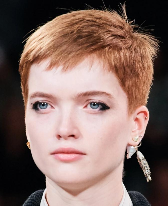 стрижка гарсон на рыжих волосах - тренды в коротких стрижках сезона осень 2020