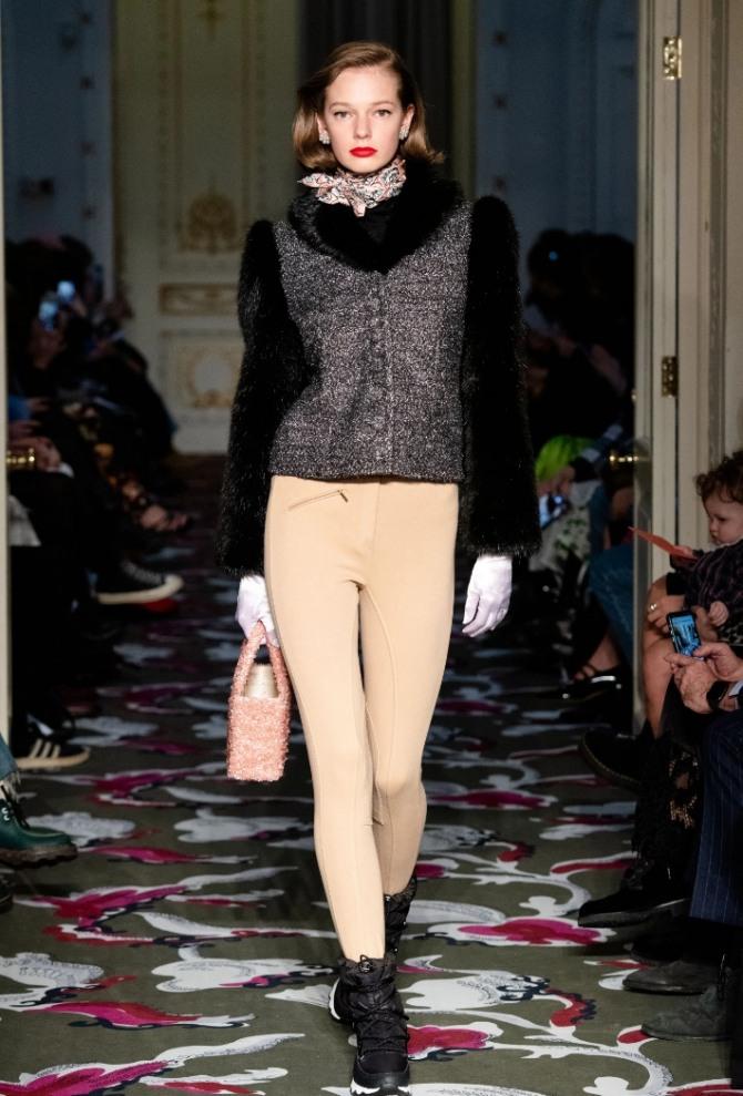 осенняя куртка-жакет, сочетание материалов разных фактур - шерсти и меха