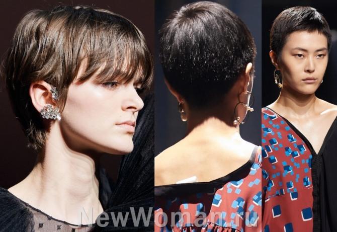 модные осенние женские стрижки с модного показа бренда Givenchy
