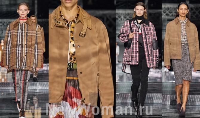 куртки в коричневой цветовой гамме на сезон осень-зима 2020-2021 - мода для женщин от бренда Burberry