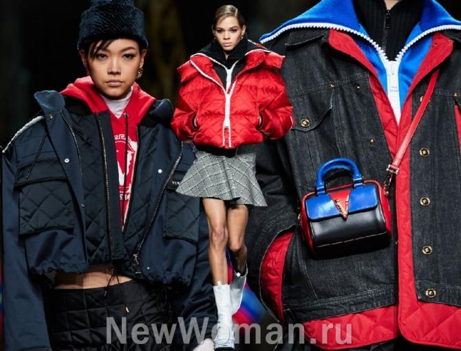 высокая мода осень-зима 2020-2021 - молодежные куртки от бренда Versace