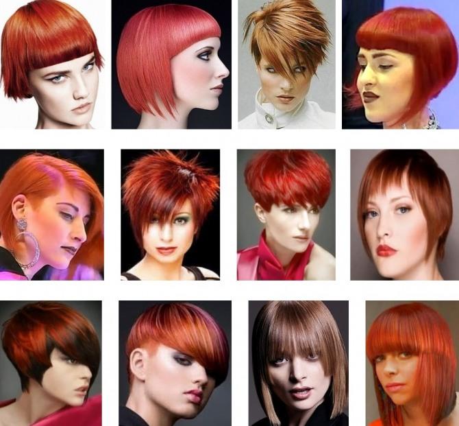 стрижки женские на огненно-рыжие волосы