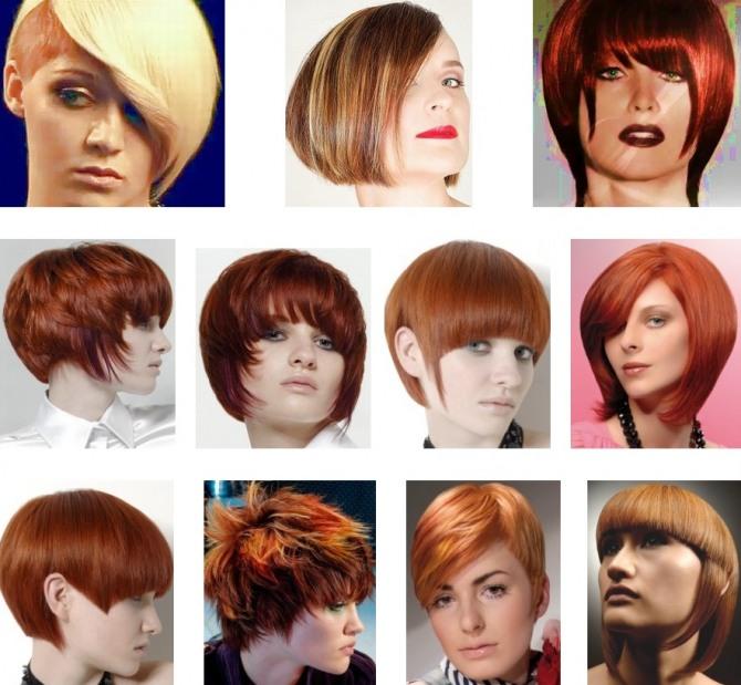 дамские стрижки для рыжих волос на короткие и средние волосы