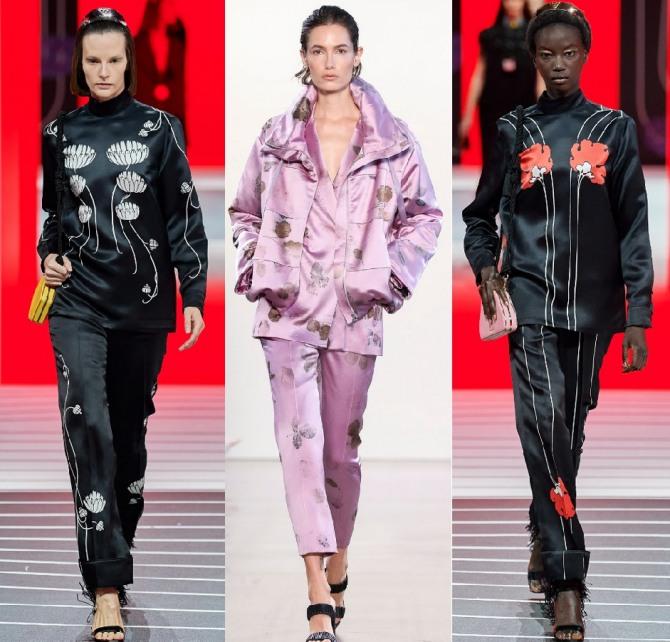 модные женские костюмы из шелка на сезон 2021 года - новинки и фото с показов мировой моды
