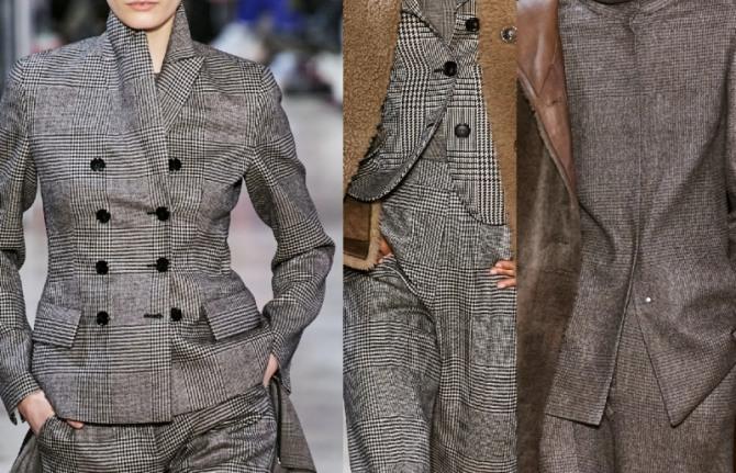 модные женские брючные костюмы 2021 года из шерстяной ткани с принтом гленчек - клетка с гусиной лапкой